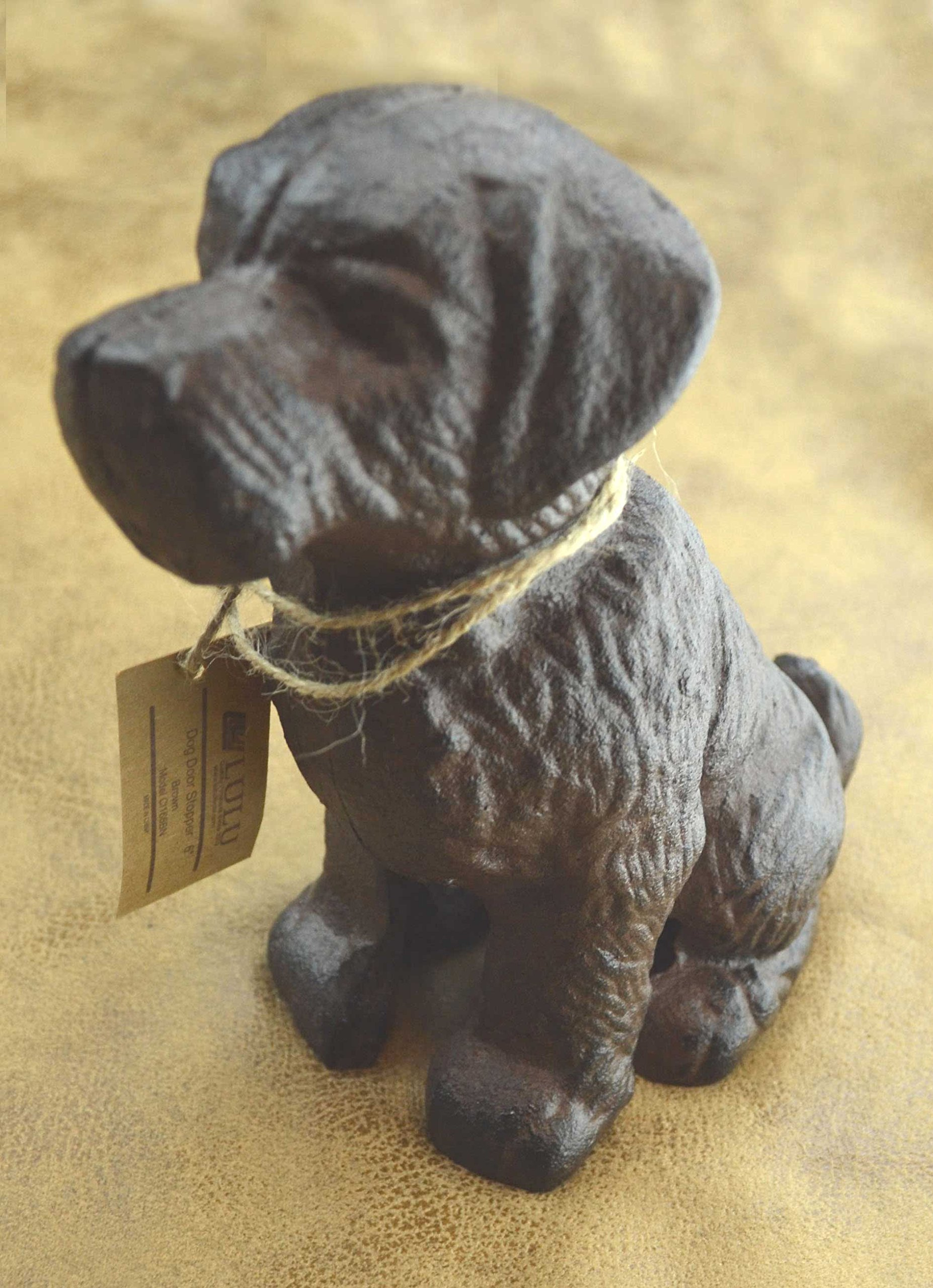 LuLu Decor, 100% Cast Iron Dog Door Stopper, Doorstop, Sculpture, Dog Statue, 6'' Height, Weighs 4.50 lb, Antique Brown (Brown 4.50 lb) by Lulu Decor (Image #2)