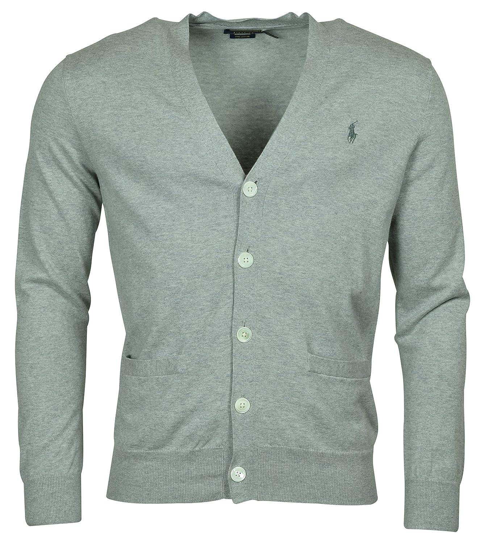 da95456ae Polo Ralph Lauren Mens Cotton Ribbed Trim Cardigan Sweater at Amazon Men s  Clothing store