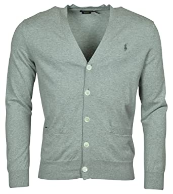 da95456ae Polo Ralph Lauren Mens Cotton Ribbed Trim Cardigan Sweater at Amazon Men s  Clothing store
