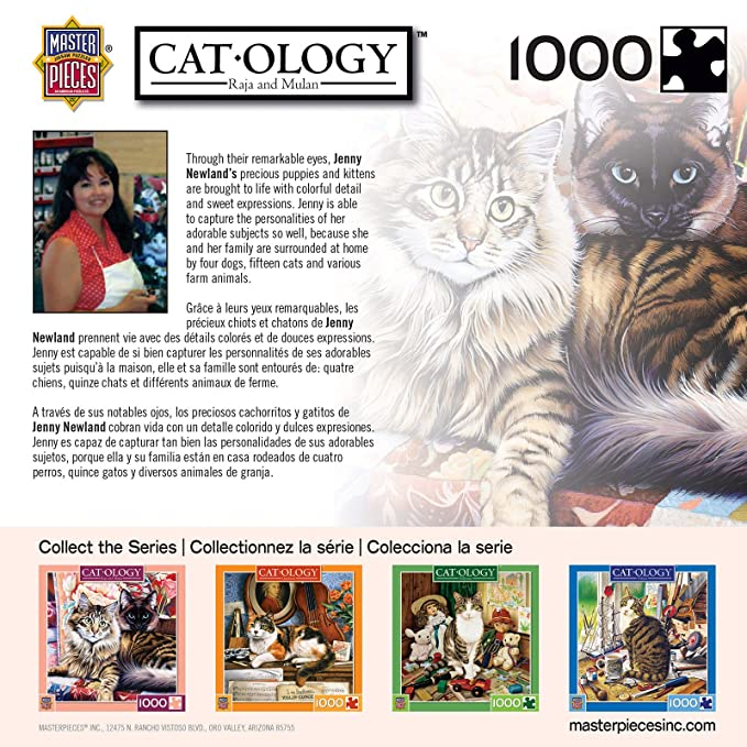 Amazon.com: MasterPieces Cat-ology Raja & Mulan Cats Jigsaw Puzzle by Jennie Newland, 1000-Piece: Toys & Games