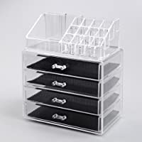 Home Living Beauty Acrylic 14 Compartment Makeup Organiser Stand Storage Display Box Beauty Holder Rack (24x15x28cm)