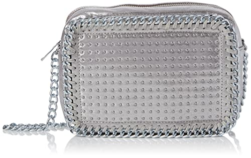 594a0c8606 Swanky Swans Womens Zara Stud Chain Camera Cross-Body Bag Silver (Silver)