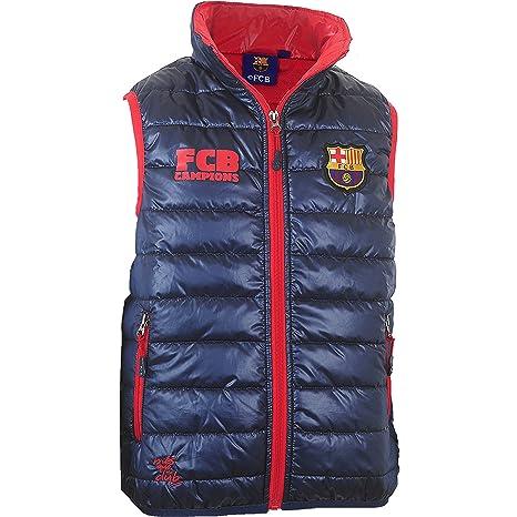 to buy best website amazing selection Fc Barcelone Doudoune sans Manche Barca - Collection Officielle Taille  Enfant garçon