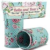 Bella and Bear Makeup Brush Holder - Travel Cup Organizer for Full Size Cosmetic Makeup Brushes - Vegan