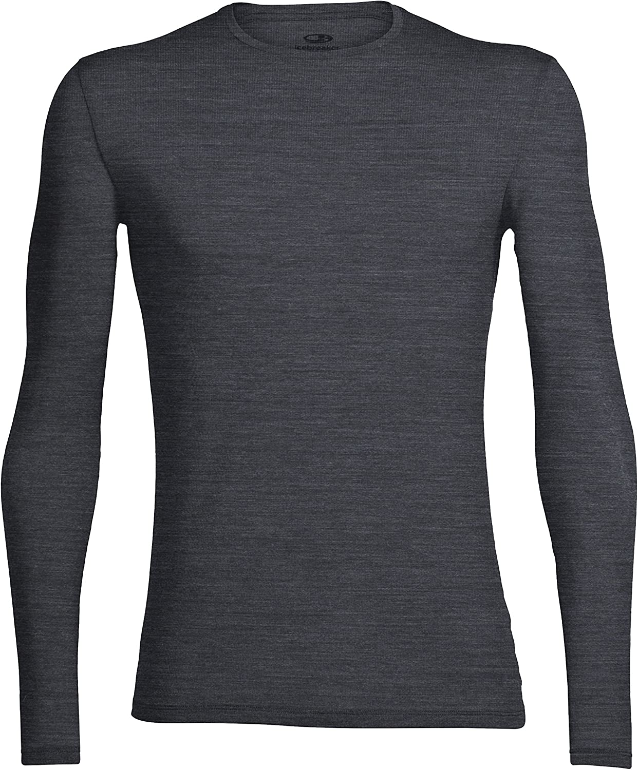 Icebreaker Merino Men's Anatomica Long Sleeve Crew Neck Shirt (Slim Fit Undershirt), Merino Wool