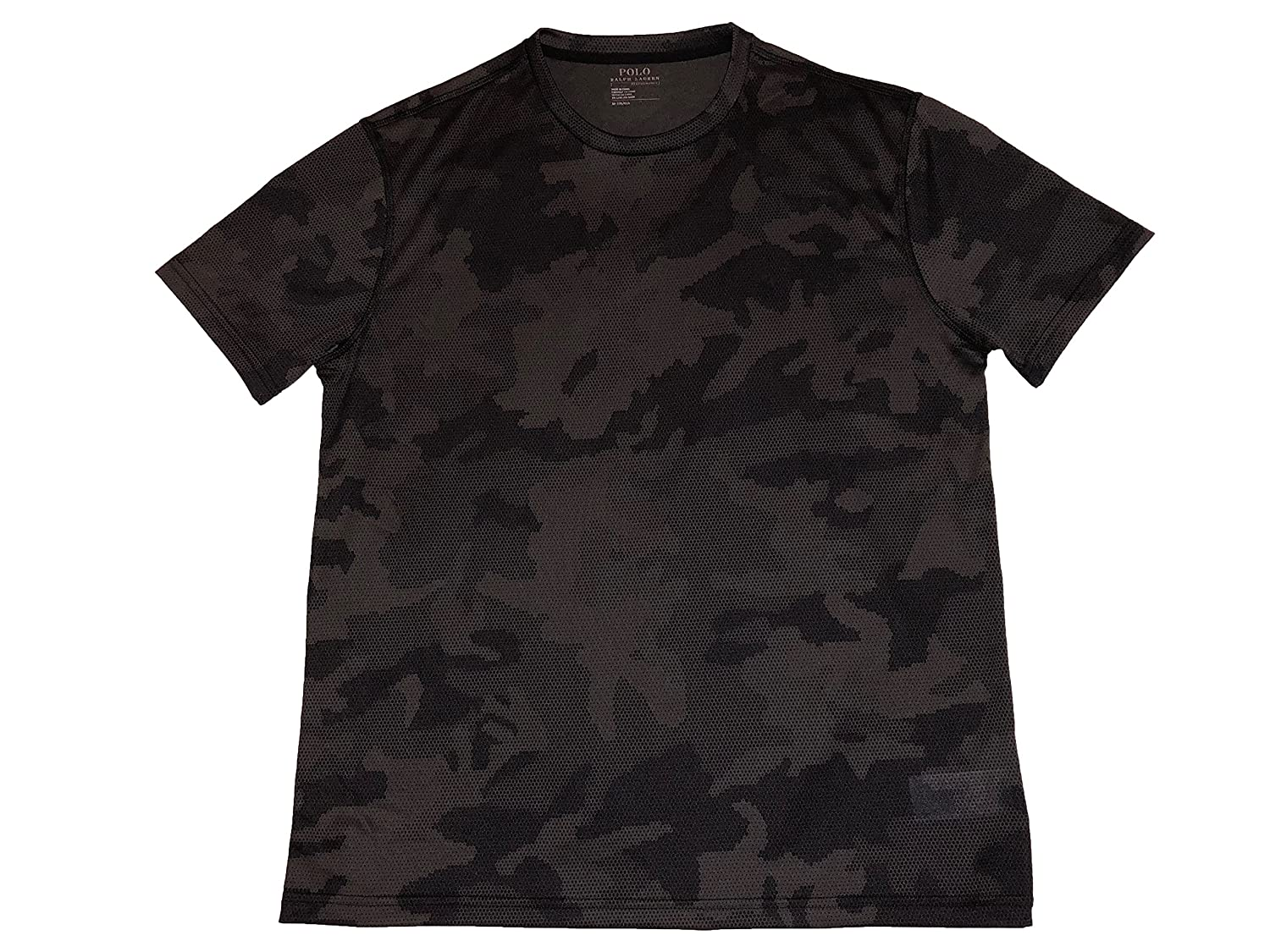 RALPH LAUREN Polo Mens Performance Thermovent Crewneck T Shirt Grey Camo