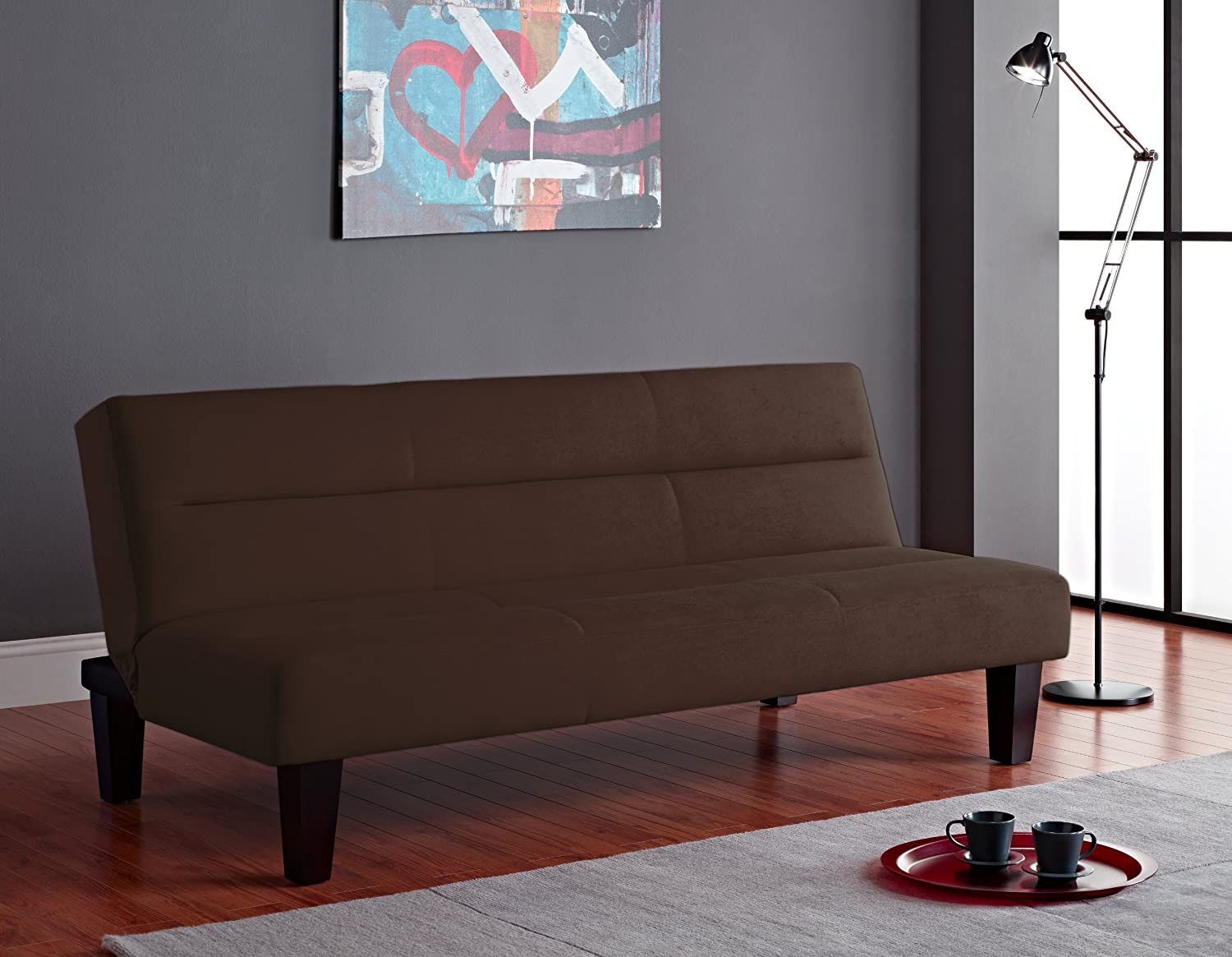 Amazon.com: Dorel Home Products Kebo Futon, Chocolate Brown: Kitchen U0026  Dining