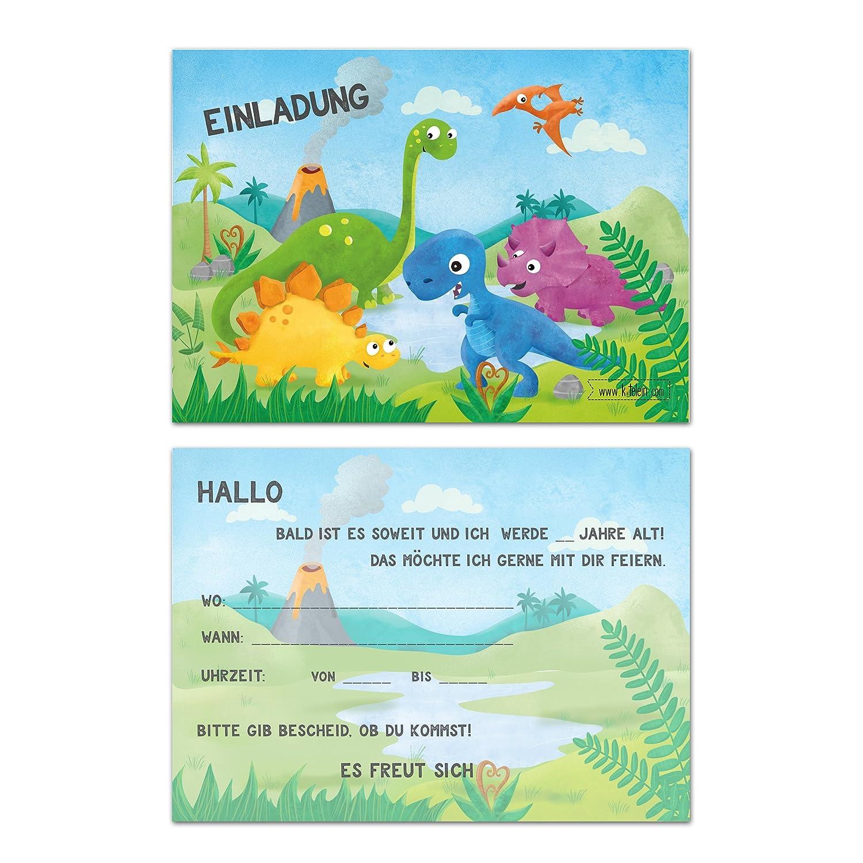 Niños Cumpleaños Dinosaurios Joven Cumpleaños Invitación