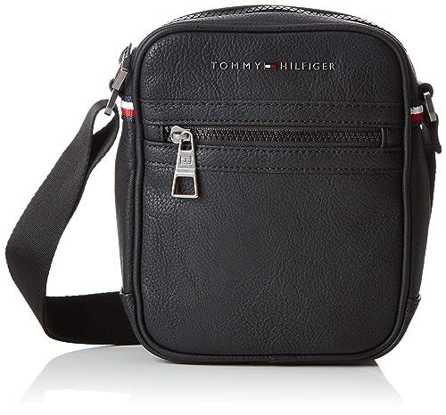 0d18e136ba2705 Tommy Hilfiger Essential Mini Reporter, Borse Uomo, Nero (Black), 16x20x5 cm