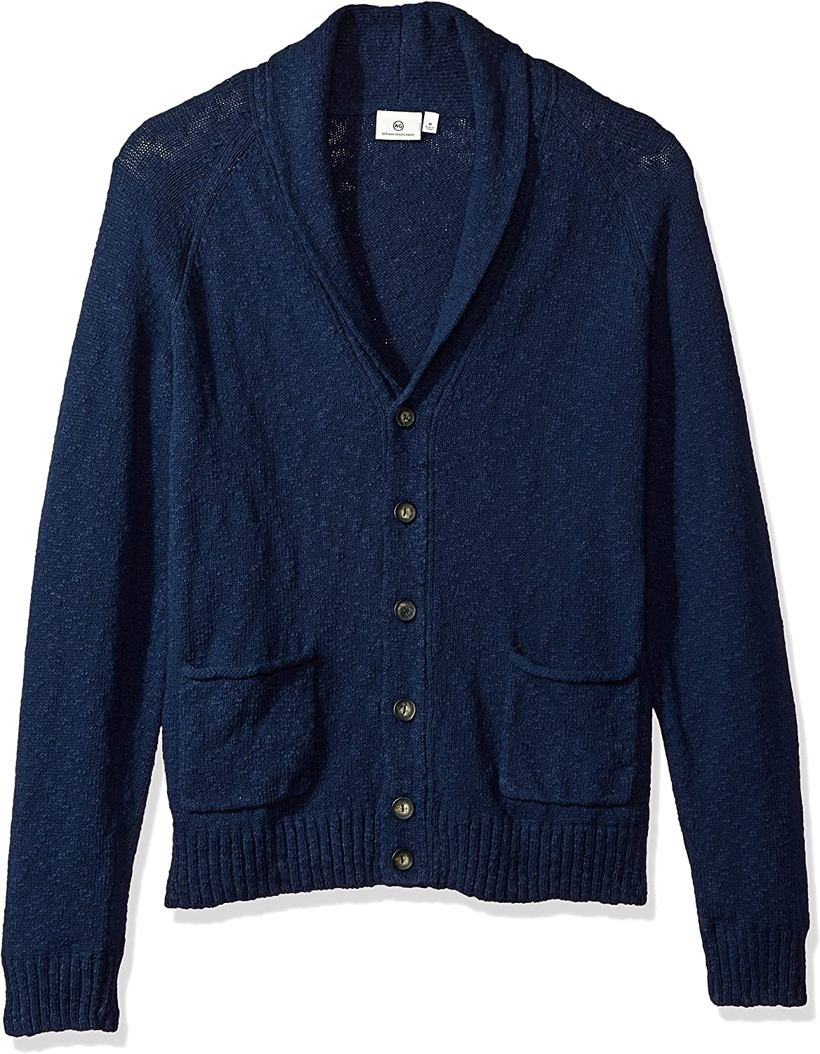 Image of Active Shirts & Tees AG Adriano Goldschmied Men's Oslo Shawl Slub Cotton Sweater Cardigan