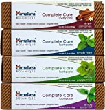 Himalaya Fluoride Free Natural Toothpaste Variety Pack (4 Pack) – Mint, Cinnamon, Peppermint and Spearmint, 5.29 OZ/150gm each
