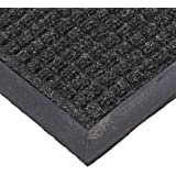 NoTrax T35 Water Master Rubber-Backed Entrance Mat, 3' X 5' Charcoal