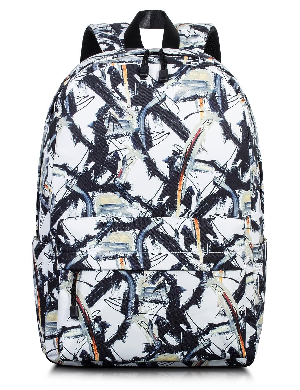 Bookbags for Teens、ユニセックスクラシックLaptopバックパックスクールバッグDaypack by toperin B076KSW2Q7 Beige[8013] Beige[8013]