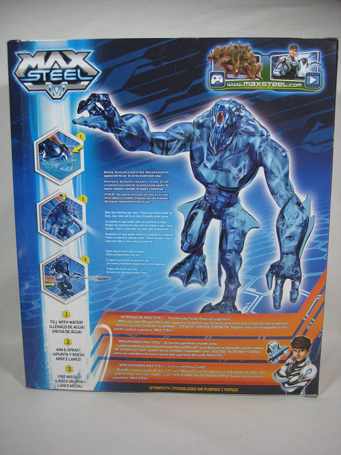 Amazon.com: Max Steel Reboot 2013 Water Blast Blue Elementor 11