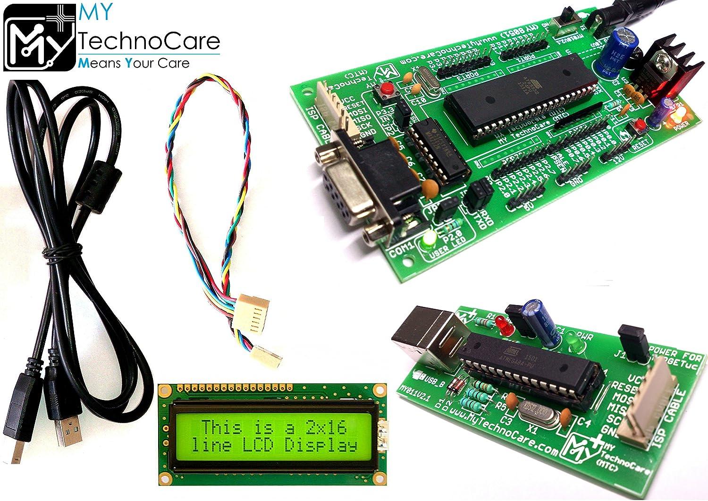 my technocare 8051 development board max232at89s52 microcontroller