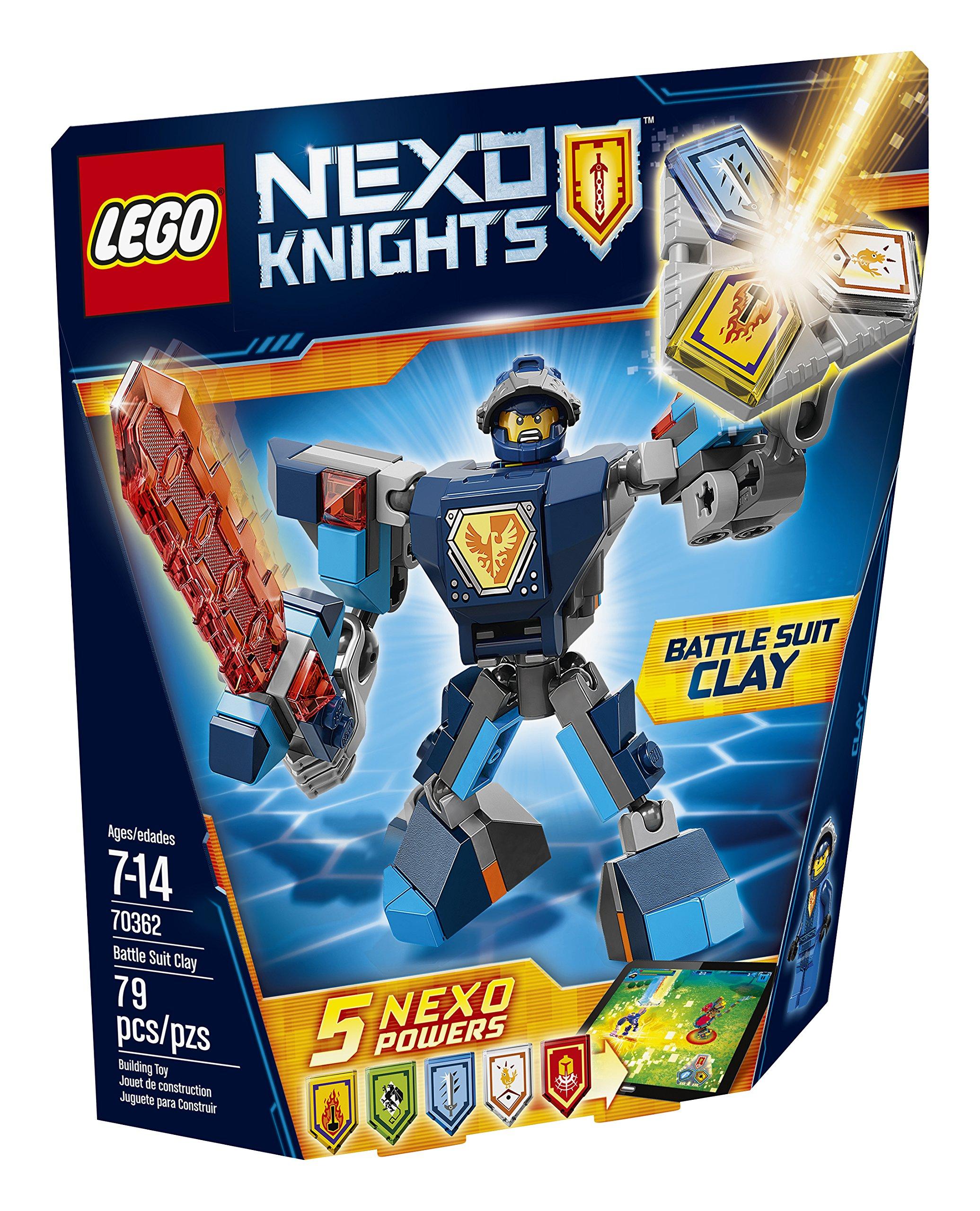 Amazon.com: LEGO Nexo Knights Battle Suit Clay 70362 Building Kit ...