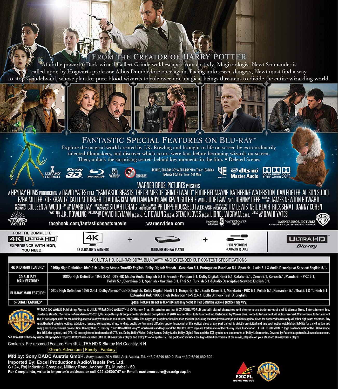 Amazon in: Buy Fantastic Beasts: The Crimes of Grindelwald (4K UHD +