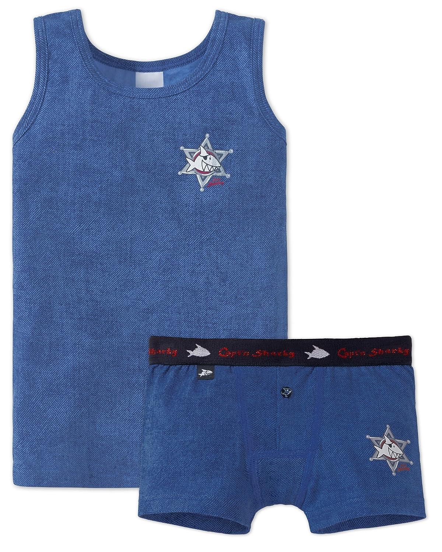 teiliges Unterwäsche Set Unterhemd Easy Tiger  großes 4 Schiesser Jungen S