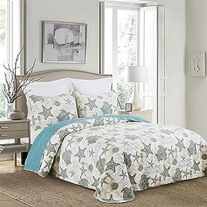 C&F Home Amber Sands Queen Bedspread Queen White