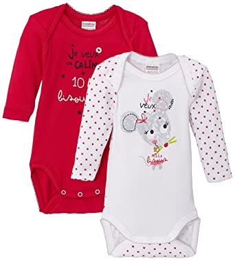 Absorba Underwear Baby Girls 0-24m Lot de 2 Bodies US MI Starred Bodysuit  Bodysuit d2cf3b1247c