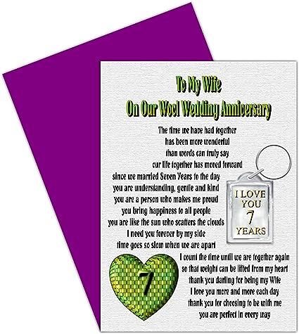 Anniversario Matrimonio 7 Anni.Moglie 7th Anniversario Di Matrimonio Con Rimovibile Portachiavi
