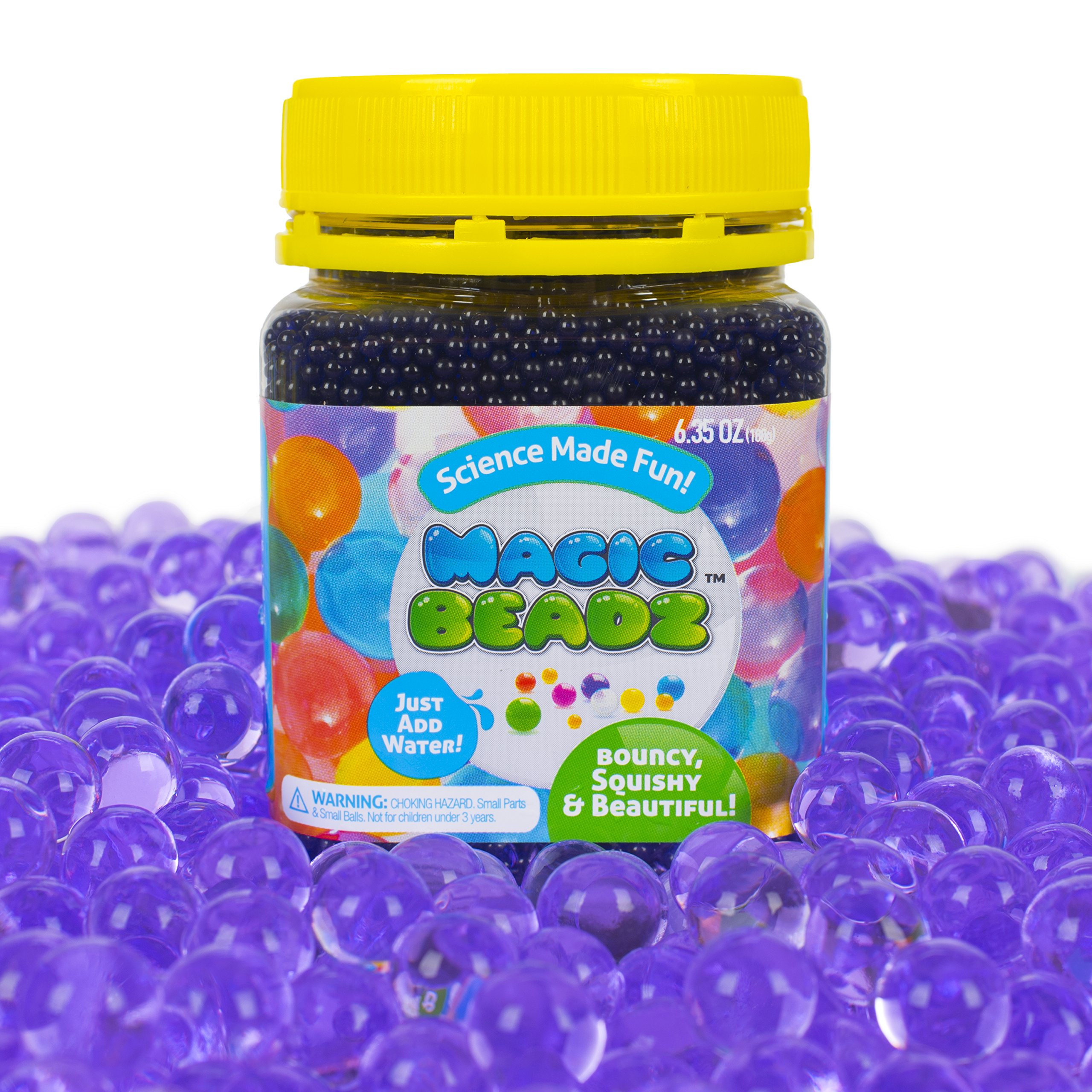 Magic Beadz Purple Gel Water Beads - Transparent Jelly Pearls - Vase Filler - Wedding Centerpiece - Candles - Flower Arrangements - Over 20,000 Beads