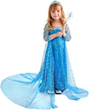 Butterfly Craze Snow Queen Princess Dress, Toddler Girl's Costume with Glamour & Coziness