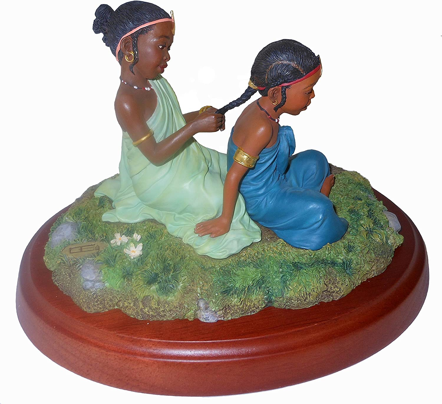 """Thomas Blackshear Sisters Forever in Childhood (#37023) Retired/Vintage Ebony Visions Figurine 