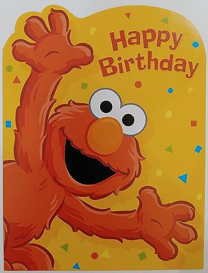 Amazon Com Happy Birthday Elmo Greeting Card Sesame Street