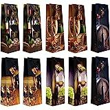 Taunus 99-3005 Lot de 10 sacs cadeaux pour bouteille (Motifs vin) (Import Allemagne)