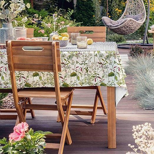 Celina Digby - Mantel impermeable al aire libre, jardín de cocina, invernadero, resistente al agua, color crema galés, diseñado y fabricado en Reino Unido: Amazon.es: Jardín