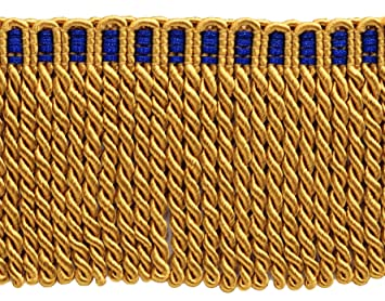 3 Inch Long LIGHT GOLD Bullion Fringe Trim Style# BFS3 Color Sold By the Yard B7