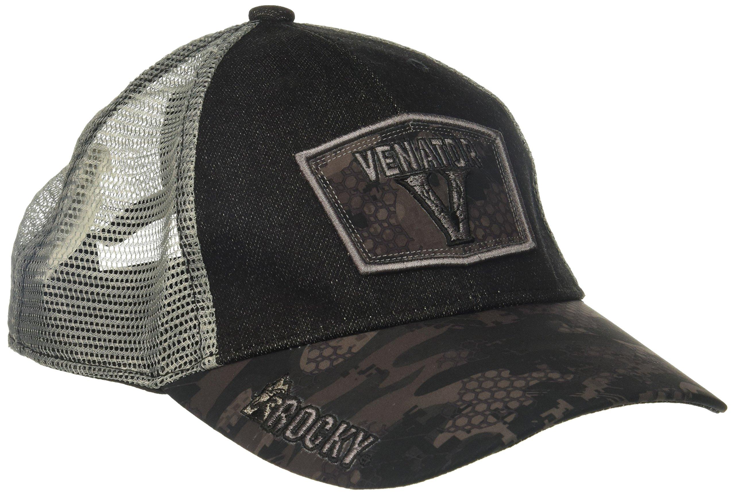 Rocky Men's Stratum Venator Logo Camo Hat, Black/Grey Camouflage, One Size