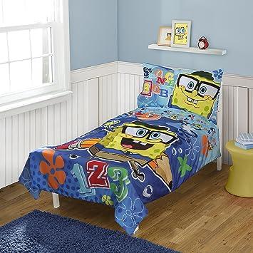 Charmant Spongebob Squarepants Toddler Bedding Set, 4 Piece