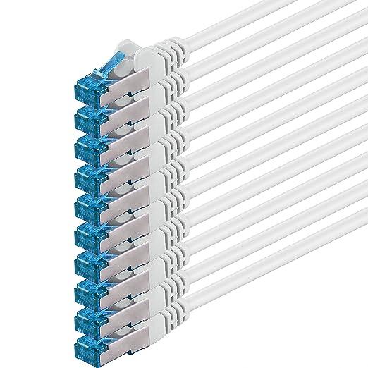15 opinioni per 2m- bianco- 10 pezzi- Rete Cavi Cat6a   S-FTP   CAT 6a   doppia schermatura-