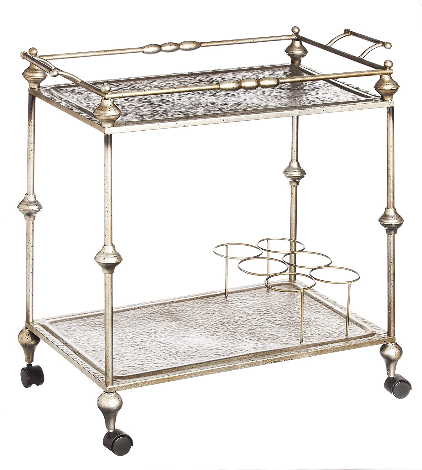 Amazon Cape Craftsmen Champagne Two Tier Rolling Metal Bar