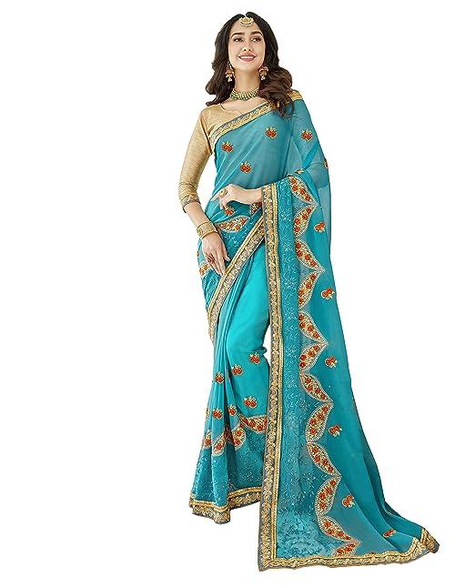 90f365bd80 Zanasya Georgette Saree (Triveni-7807-15M_Grey_Free Size): Amazon.in:  Clothing & Accessories