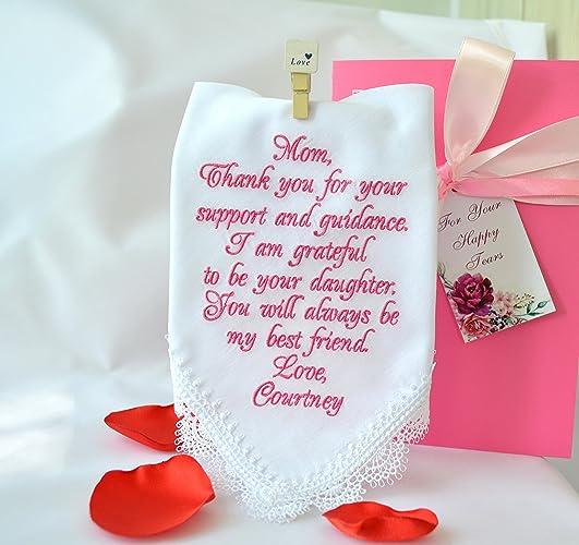 Amazon Wedding Handkerchief For Mother Of The Bride Wedding