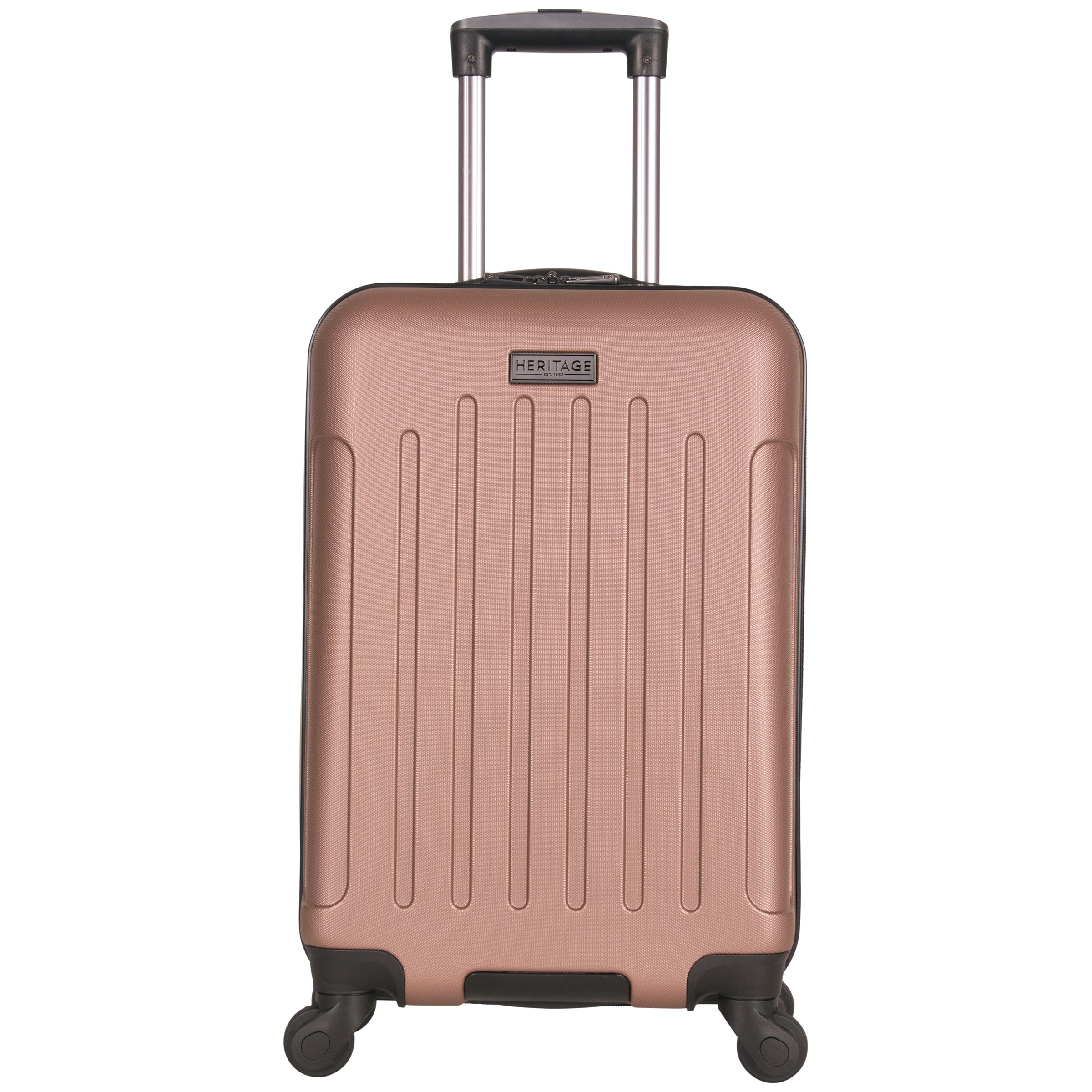Heritage Travelware Lincoln Park 20'' Abs 4-Wheel Carry on Luggage, Rose Gold