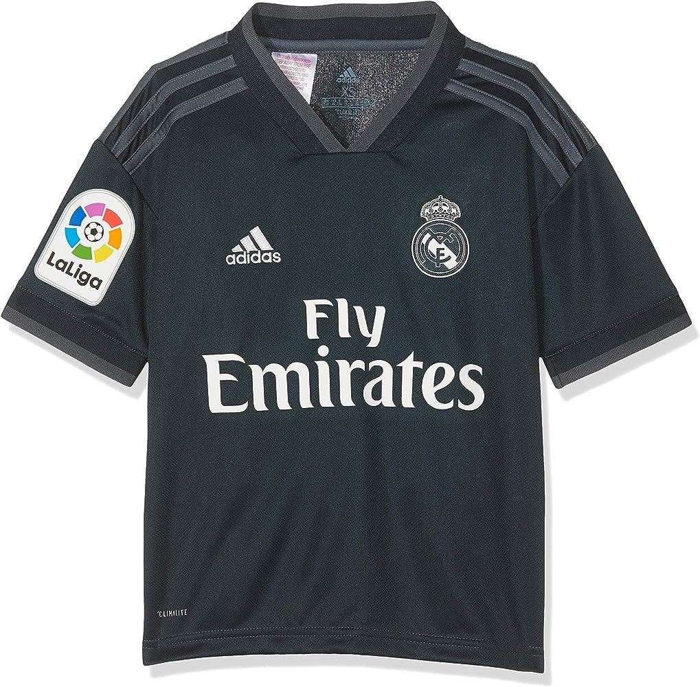 adidas 18/19 Real Madrid Away-Lfp Camiseta, Niños, Gris (ónitéc/onifue/Blanco), 128: Amazon.es: Ropa y accesorios