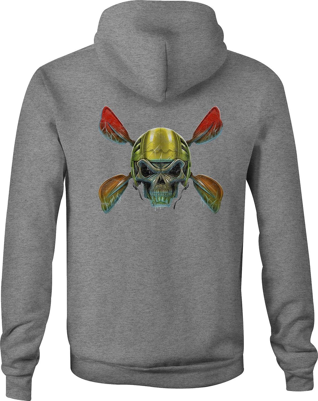 Zip Up Hoodie Kayak Skull River Rat Hooded Sweatshirt for Men