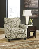 Danely Dusk Collection Leaf Design Fabric Upholstered Living Room Accent Chair
