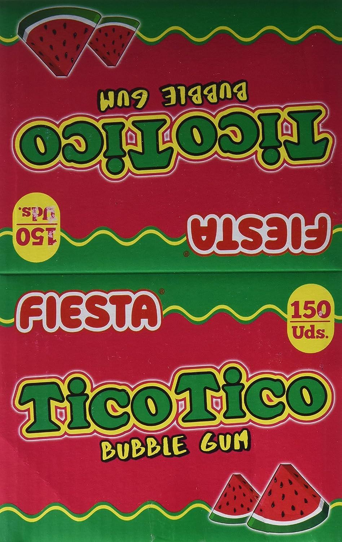 FIESTA Tico Tico Barra de Chicle Sabor Sandía - Caja de 150 unidades