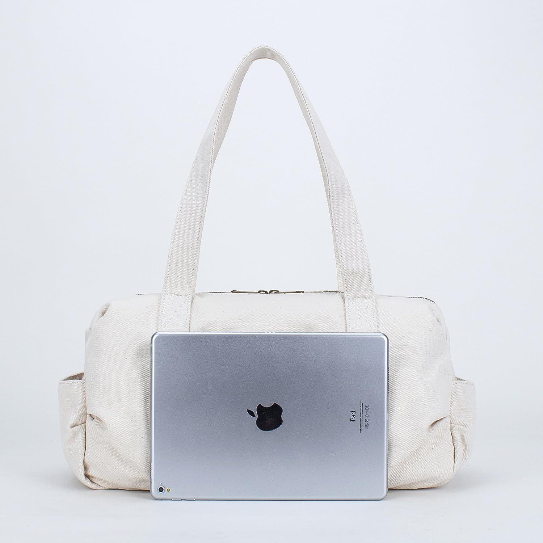 2f464e100e62 Amazon.com  Karitco Unisex Plain Cotton Canvas Tote Shoulder Bag (Canvas  Beige)  Shoes