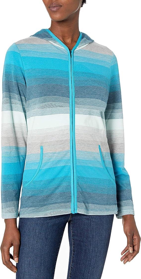 ExOfficio Traversa 速干防异味 户外女式连帽针织上衣 M码2.3折$18.42 海淘转运到手约¥210