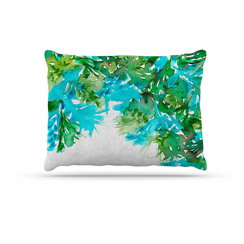 Kess InHouse EBI Emporium Floral Fiesta Teal Watercolor Pattern Throw 40 x 30 Fleece Blanket