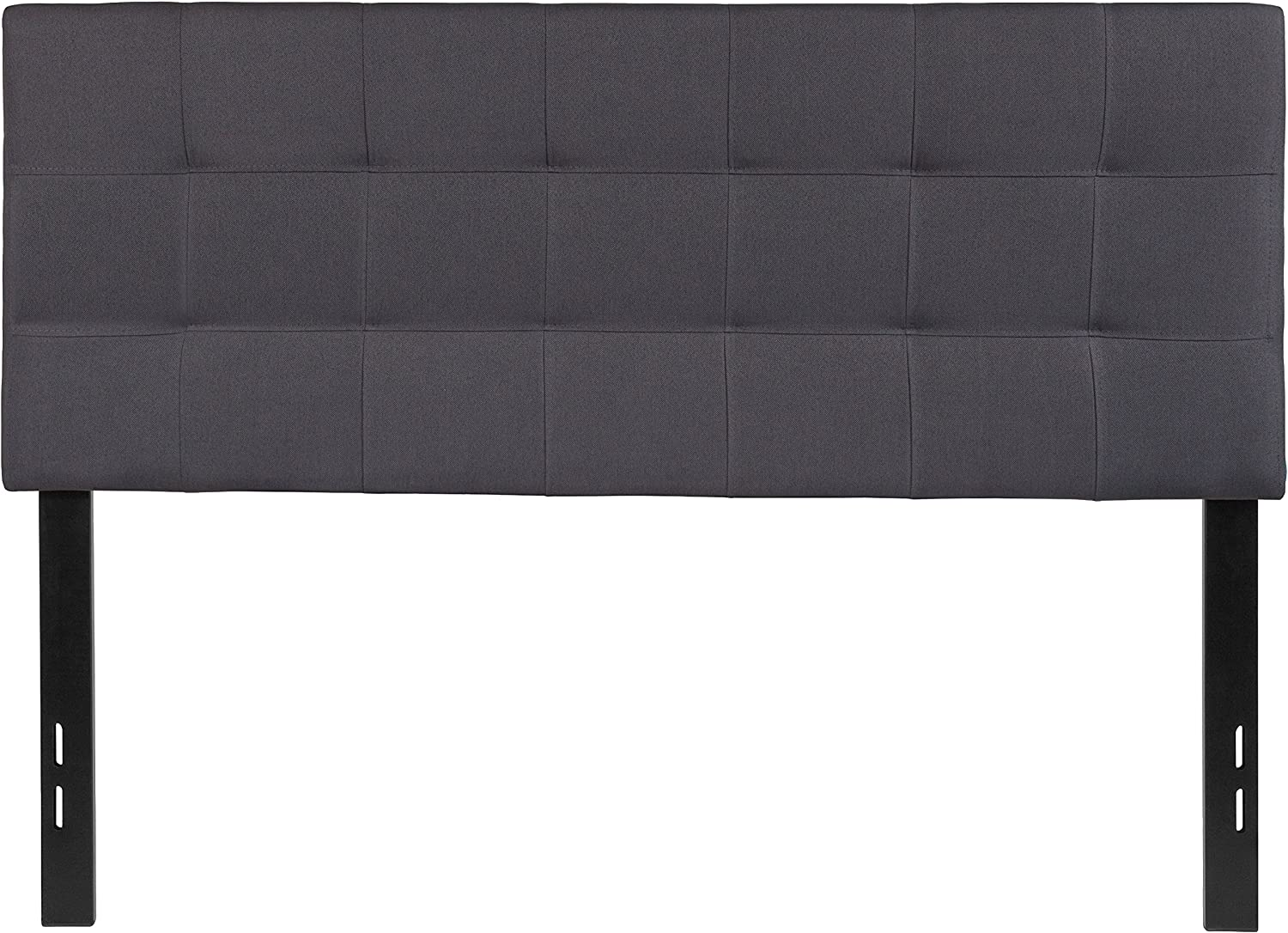 Flash Furniture Bedford Tufted Upholstered Full Size Headboard in Dark Gray Fabric