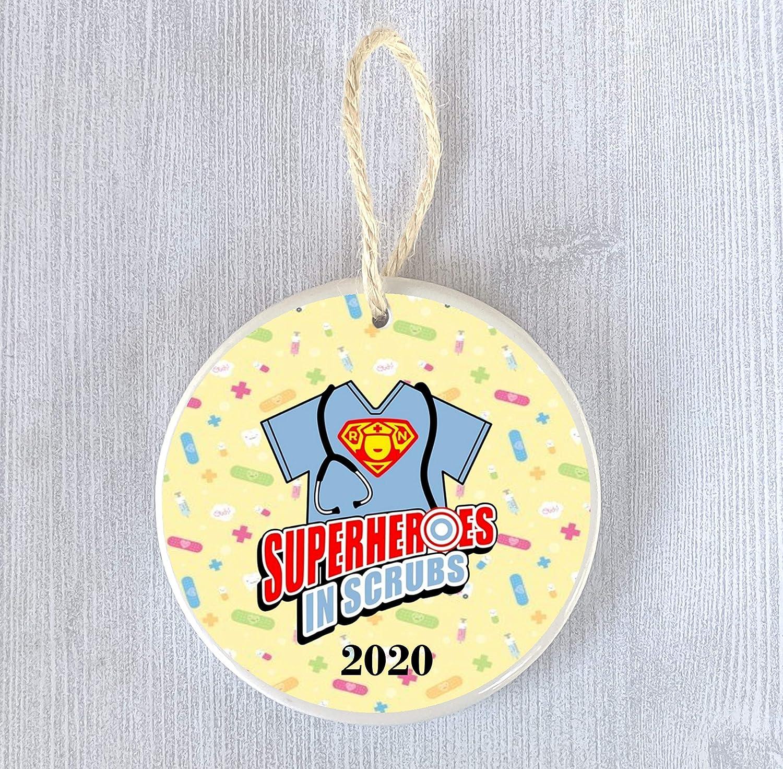 Superheroes in Scrubs 2020 Funny Ornament