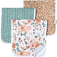 Baby Burp Cloth Large 21''x10'' Size Premium Absorbent Triple Layer 3-Pack Gift Set Autumn by Copper Pearl