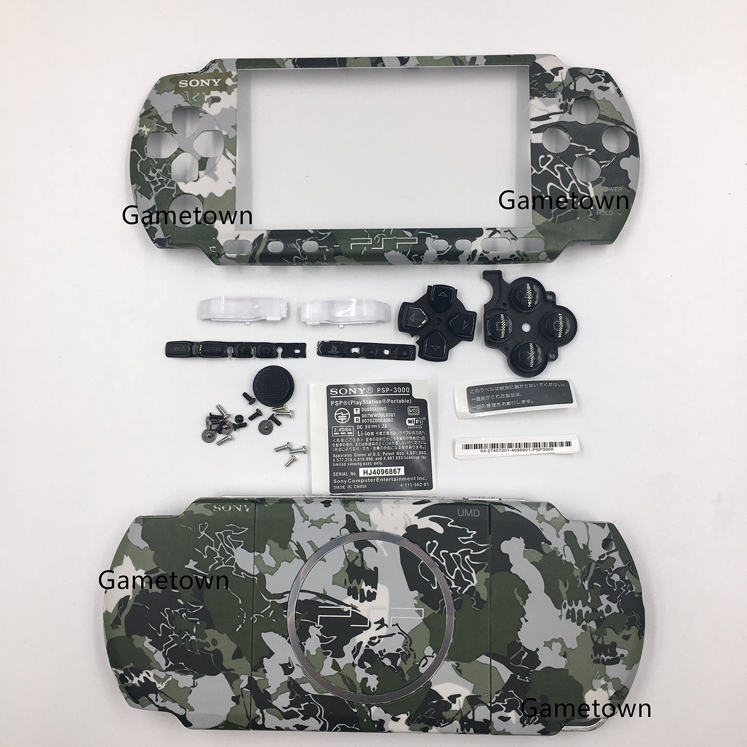 NEW Style Sony PSP 3000 Console Full Housing Shell Cover With Button Set -Camouflage.